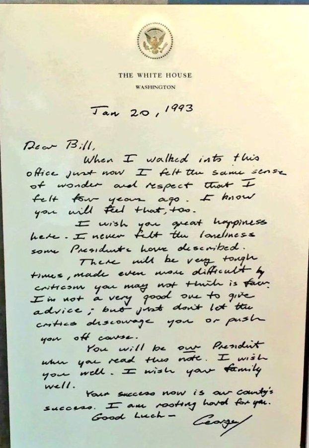 The Bush Letter